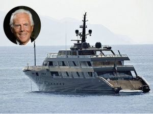 Armani's first superyacht at sea