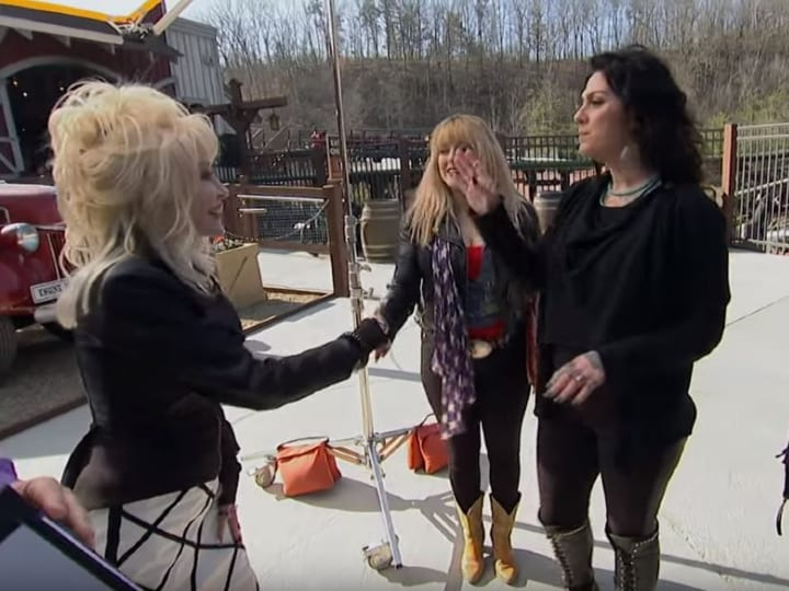 Dolly Parton meets Danielle Colby, American Pickers, antiques