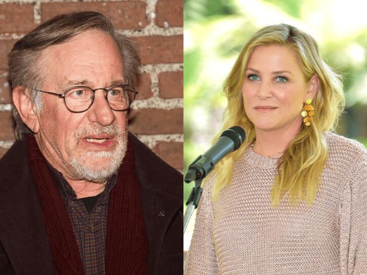 Steven Spielberg and Jessica Capshaw