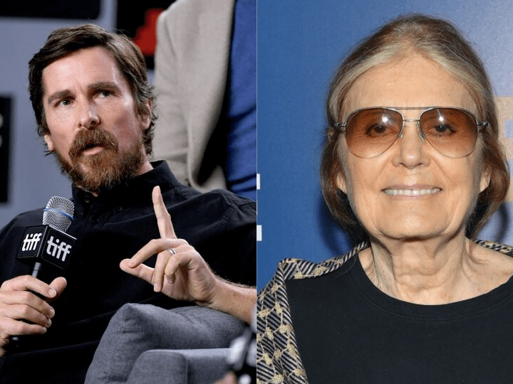 Christian Bale and Gloria Steinam