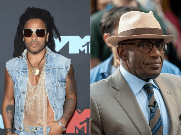 Lenny Kravitz and Al Roker