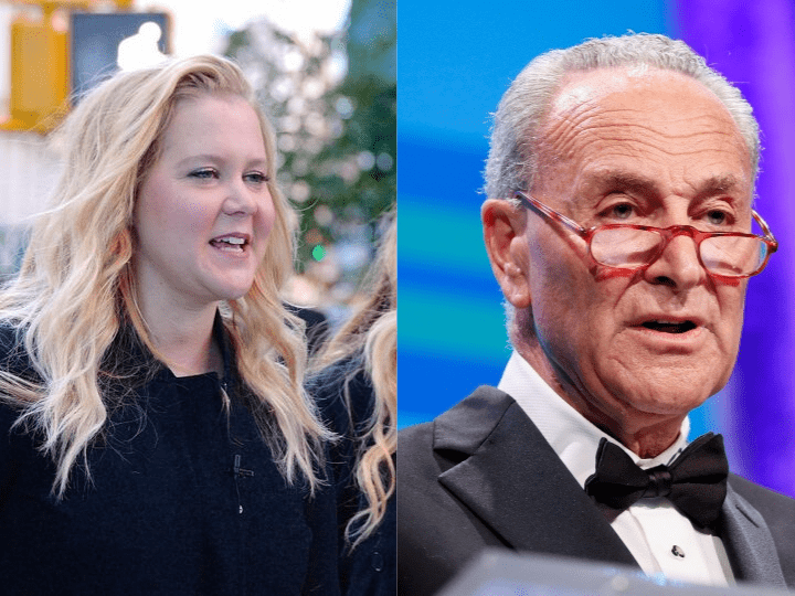 Amy Schumer and Chuck Schumer