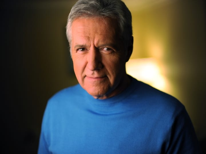 Canadian American television star Alex Trebek has been the host of the syndicated game show Jeopardy! since 1984.