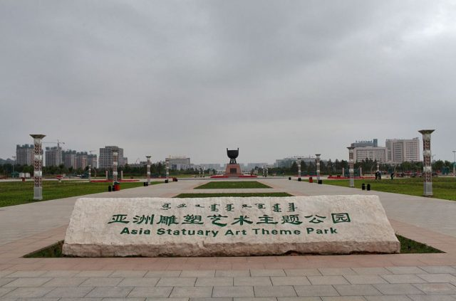 Asia Statutory Art Theme Park in Kangbashi New District of Ordos City, Inner Mongolia, China-abandoned-ghost-cities