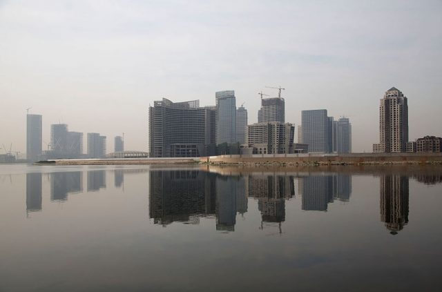 Binhai New Development Zone's Yujiapu and Xiangluowan districts in Tianjin