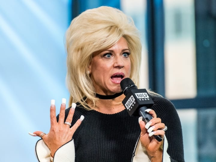 "NEW YORK, NY - MARCH 16: T.V. personality Theresa Caputo discusses ""The Long Island Medium"" with the Build Series at Build Studio on March 16, 2017 in New York City"