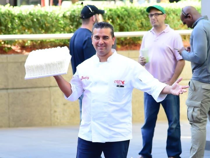 Cake Boss is sen on the set of Fox in Midtown on August 23, 2016 in New York City.