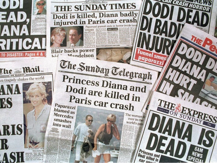 newspaper headlines after diana death
