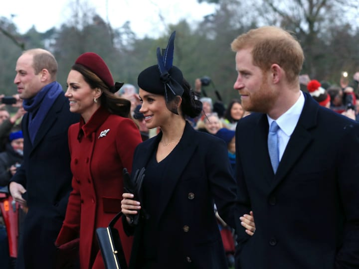 prince william and harry and their wives