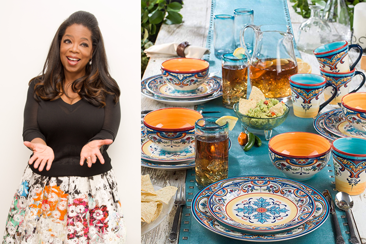 oprah's favorite things, euro ceramica spanish dishware set