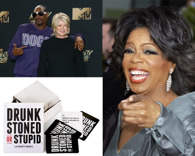 Drunk, Stoned, or Stupid party game, Oprah's favorites