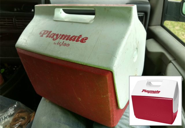 playmate igloo cooler, old and new contrast, buy it for life