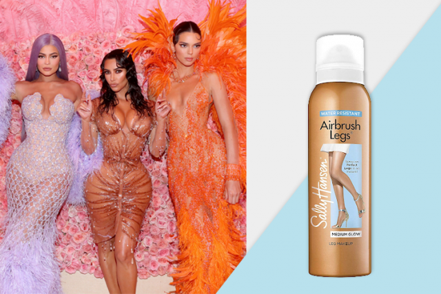 celebrity favorite products, the kardashians, sally hassen airbrush leg spray