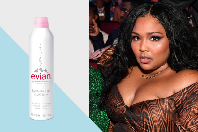 Lizzo, celeb favorite beauty products, Evian Facial Spray