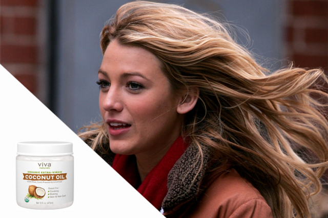 celebrity favorite beauty products, Blake Lively for Viva Naturals Organic Extra Virgin Coconut Oil