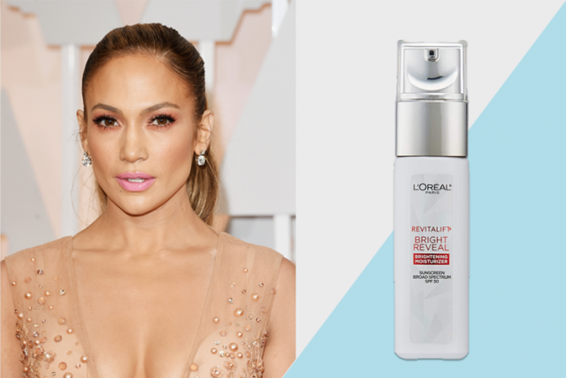celebrity favorite beauty products, Jennifer Lopez for L'Oreal Revitalift Bright Reveal