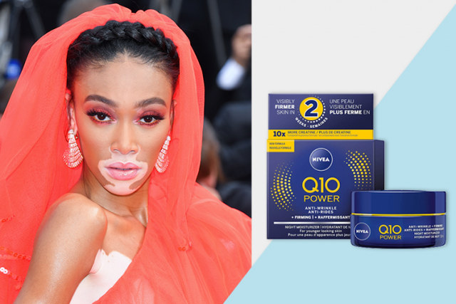 celebrity favorite products, winnie harlow NIVEA q10 anti-wrinkle night cream
