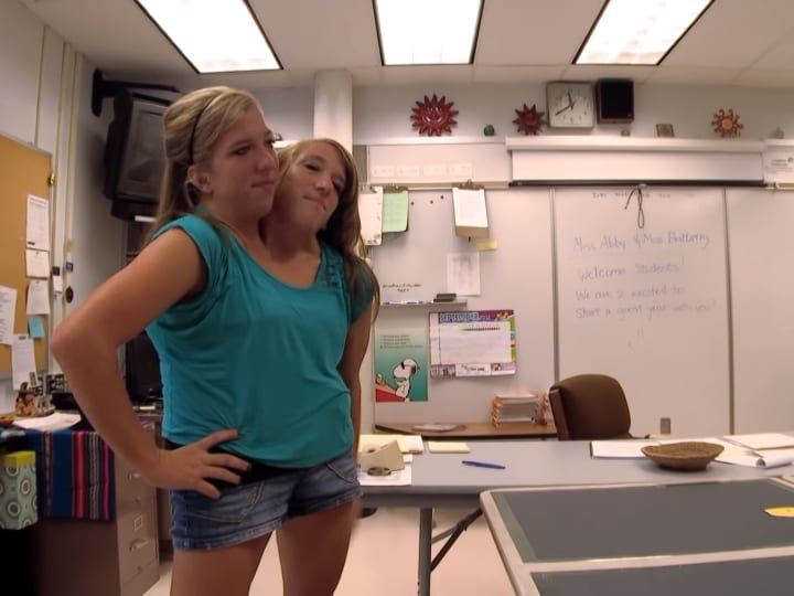 classroom, Brittany and Abby, teachers, conjoined twins
