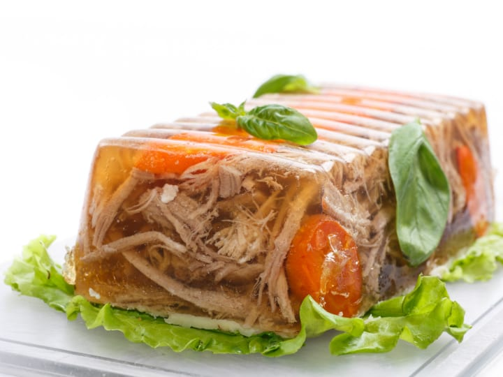 meat and vegetable aspic