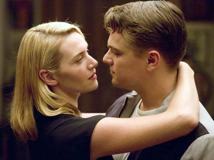 Kate Winslet, Leonardo DiCaprio, couple, no kissing