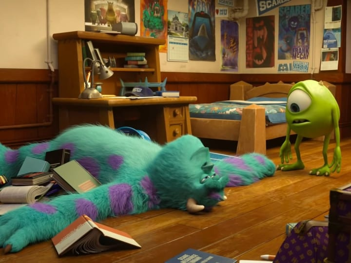 Mike meets Sully, plot hole, university