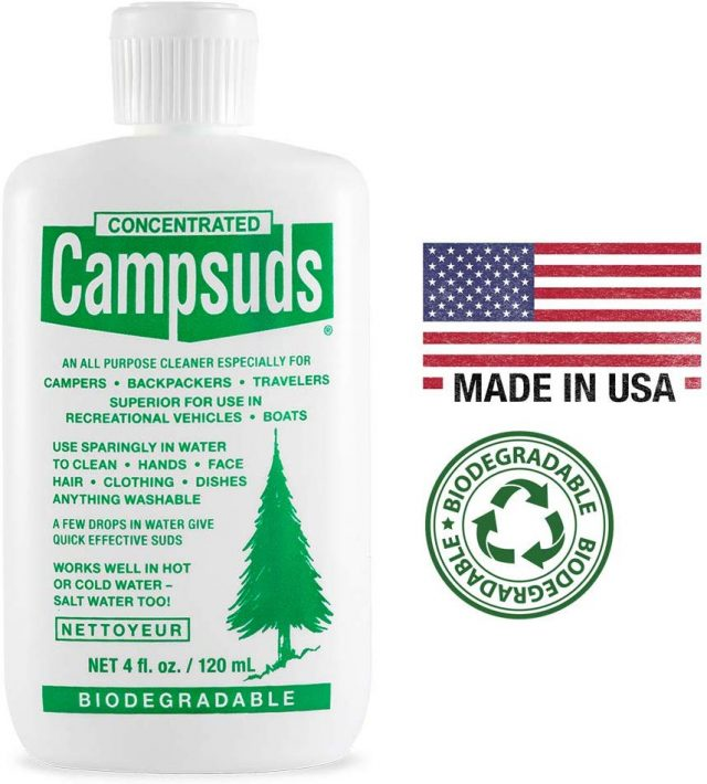 Sierra Dawn Campsuds Outdoor Soap Biodegradable Environmentally Safe All Purpose Cleaner, Camping Hiking Backpacking Travel Camp, Multipurpose for Dishes Shower Hand Shampoo, Amazon