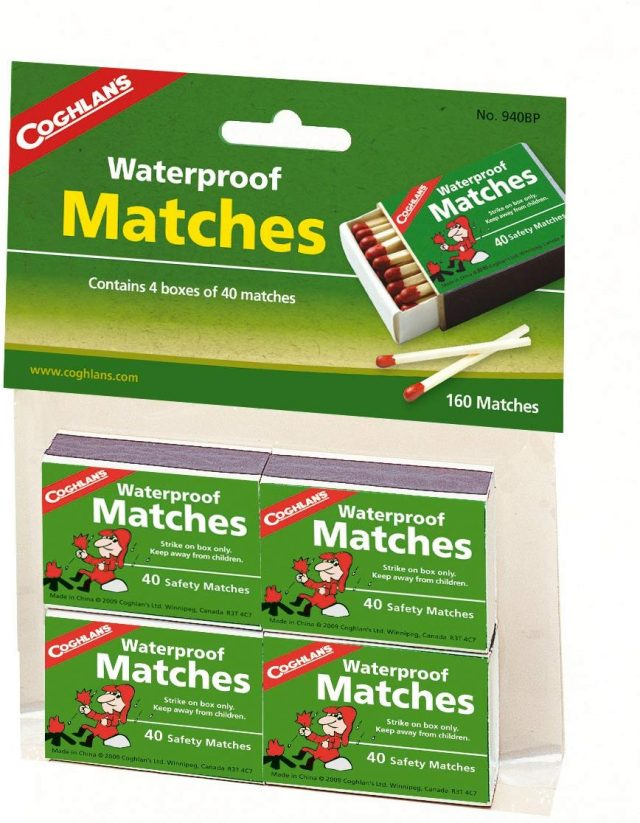 Coghlan's 940BP Waterproof Matches, 4 pack, Amazon