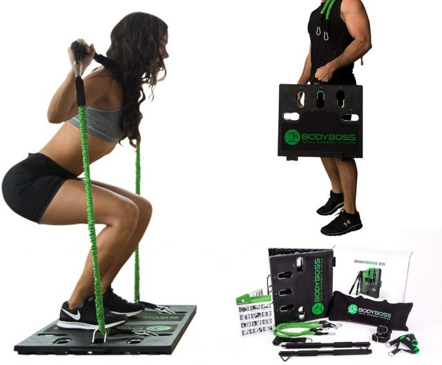BodyBoss 2.0 - Full Portable Home Gym Workout Package + Resistance Bands, Amazon