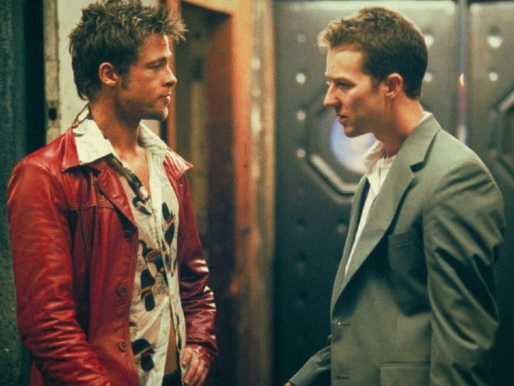 fight club, Brad Pitt, Edward Norton