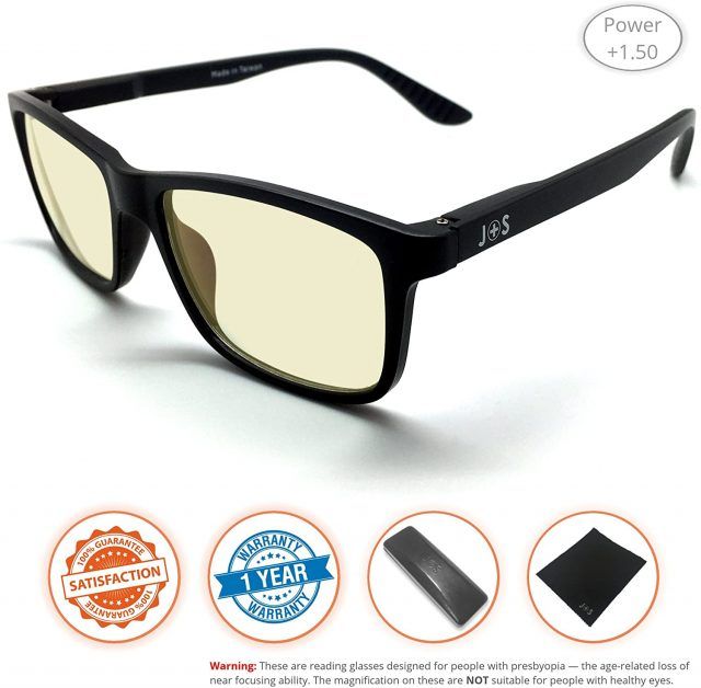 J+S Vision Reading Glasses with Anti Blue Light Function, Amazon
