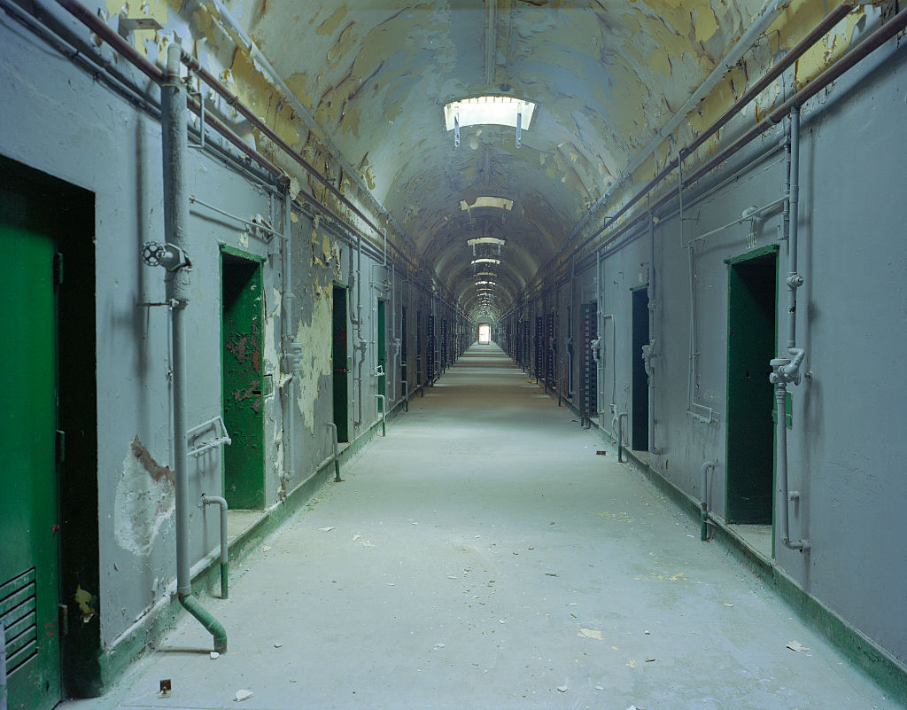 UNITED STATES - AUGUST 27: Hallway at the now-abandoned Eastern State Penitentiary, Philadelphia, Pennsylvania