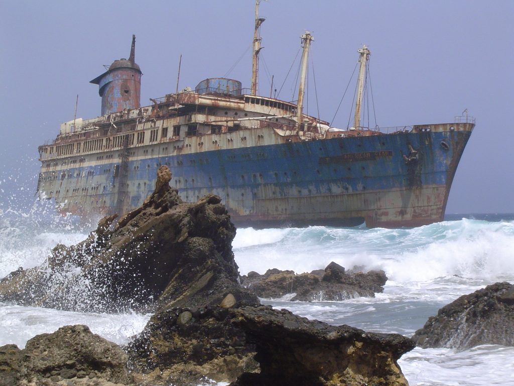 mysterious abandoned places, SS American Star i the Carnary Islands