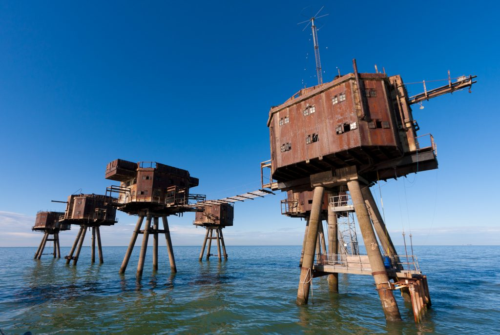 Mysterious abandoned places around the world, The Maunsell Sea Forts, England
