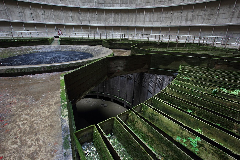 mysterious abandoned places, I.M. Cooling Tower, Belgium